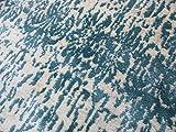 Cefalù Tappeto 80X225 Azzurro Grigio Beige Celeste blu bianco Design Moderno Poliestere guida corsia cucina striscia morbido al al tatto effetto seta silkk effect (gali carpet)