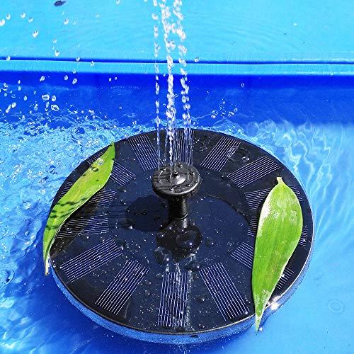 SOLIGHTS Solar Schwimmender Fontäne Pumpe Mit 1.4W Monokristalline Solar Wasserpumpe Outdoor Wasser Schwimmenden Terrasse Garten Pool Landschaft Dekor