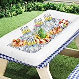 Seau à Glace TAPCET Bar Craft Salade Gonflable Sceaux à Glace et Rafraîchisseur 130 * 60 * 13CM Drink Beer Refroidisseur de Boissons Fraîches Cadeau D'été blanc