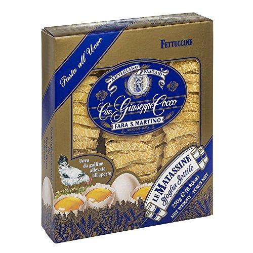 Pasta-Cocco-Tagliatella-fideos-de-huevo-n143-250-Gramos-Cavalier-Giuseppe-Cocco-fabricante-de-la-pasta-artesanal-italiano
