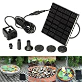 Konesky Solar Power Pumpe Outdoor Brunnenpumpe Kit Tauch Garten Pool Teich Aquarium Bewässerung Sprinkler