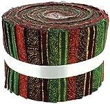 Tessuto Freedom Christmas Paisley floreale Jelly Baby roll, 100% cotone,, 9x 9x 7cm