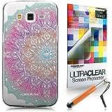 CASEiLIKE Arte de la mandala 2090 Bumper Prima Híbrido Duro Protección Case Cover Funda Cascara for Samsung Galaxy Grand 2 +Protector de Pantalla +Plumas Stylus retráctil (Color al azar)