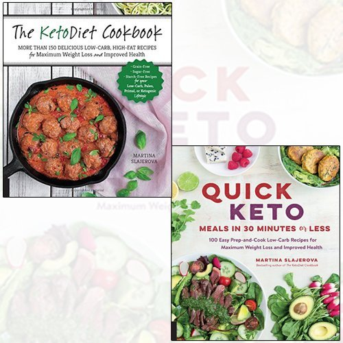 Martina Slajerova 2 Books Collection Set - Quick Keto Meals in 30 Minutes or Less,The KetoDiet Cookbook