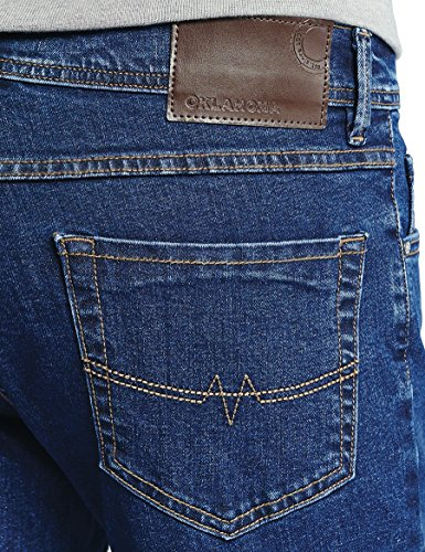 Oklahoma Jeans Herren Straight Jeans Blau (Mid Stone 001)
