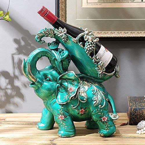 DEED Estante del Vino-Estantes de Vino Creativos Europeos Elefantes de Resina Forma...