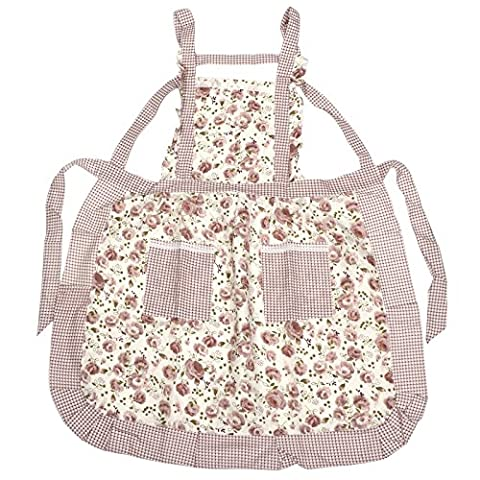 TRIXES Frilly Floral Apron Tabard Kitchen Household