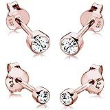 Elli Orecchini Set basic per donna con cristallo Swarovski® in Argento Sterling 925