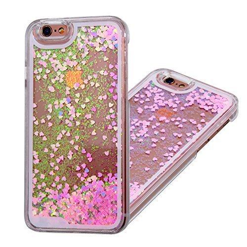 Liquid-Custodia per Iphone 6, in plastica con brillantini 3d Kingstar trasparente, con Skin protettiva e