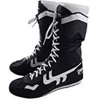 High Top Scarpe da Pugilato Boxe Scarpe Boxer Stivali per Uomo Donne Bambini