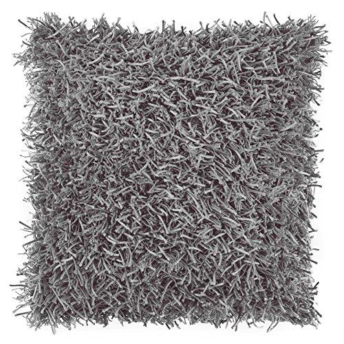 Dutch Decor - Copricuscino Ottawa, 45 x 45 cm, colore grigio scuro grigio scuro