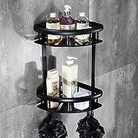 Comparador de precios BATHAE Nivel 2 estantes de baño/Estante Estilo Moderno Negro de aluminio del espacio de montaje en pared baño de lluvia Accesorios de baño Estante, Negro - precios baratos
