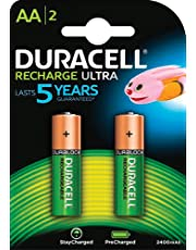 Duracell Ultra 5000677 AA Rechargeable Batteries 2500 mAh (Pack of 2, Green)