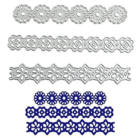 Logres Flower Lace Cutting Dies Stencils DIY Scrapbook Album Paper Card Embossing Craft