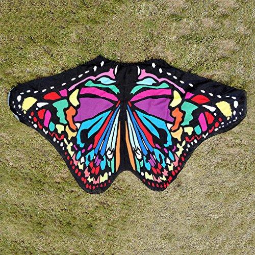 COMVIP 185*140 Sommer Damen Strand Badetuch Matte Strand Tischdecke Yoga-Matte Handtuch Wandteppich Pareos Bikini Deckung Schmetterling C