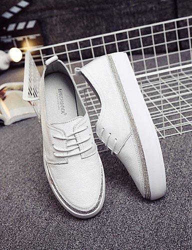 ShangYi gyht Scarpe Donna-Sneakers alla moda / Mocassini-Casual-Comoda / Chiusa / Stivali-Piatto-Di pelle-Bianco Cream