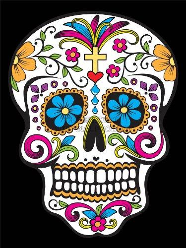 Wee Blue Coo Prints Ilustración Decorativo Calavera día de...