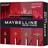 Maybelline New York Sensational Liquid Matte Lip Kit - Soft Wine, Flush it Red, Sensationally Me, Best Babe, 7ml*4 (Pack of 4