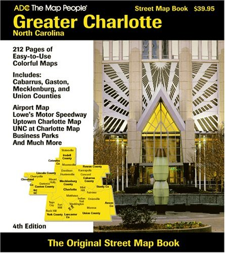 ADC the Map People Charlotte, North Carolina Street Map Book - Karte Charlotte Nc