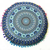 Hot Sale! Indian Mandala Floor Soft Pillows Round Bohemian Festival Party Cushion Cover Pillows Cover Case By Kavitoz (N)