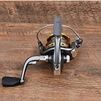 GFGHH Leo Metal Cable Cup Spinning Reels 10BB Ball Bearing Spinning Fishing Reels Fishing Tackle Collapsible Handle Reel