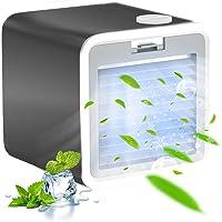 Mobile klimageräte, 3-in-1 Klimaanlage Luftbefeuchter und Luftreiniger, USB Ventilator Air Cooler mit 3 Kühlstufen…