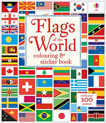 Flags Of The World Colouring And Sticker Book por Meredith Susan