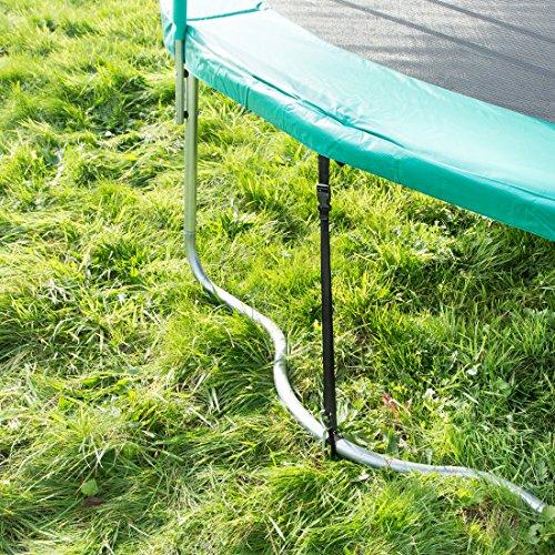 Ultrasport Trampolin Bodenverankerung, Spiral Bodenanker-Set für Trampoline, Schaukeln, Gartenhaus, Spielturm und vieles mehr -