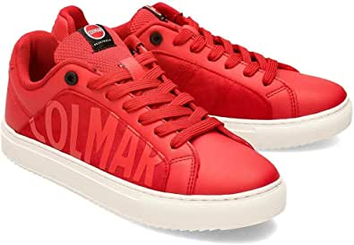 Colmar Sneaker Scarpette Pelle Rosso Scarpe Uomo Casual 2020 Man Shoes