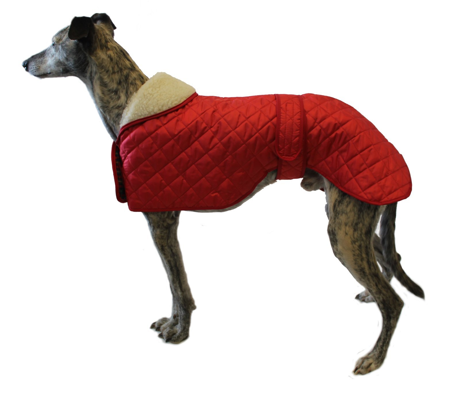 Cosipet Greyhound Anorak Nylon Coat, 56 cm, Red