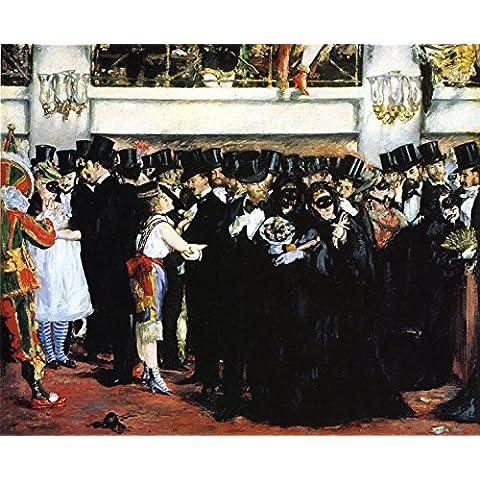 OdsanArt 20 x 40,64 cm 1 pieza Post-Impresionismo otros baile de máscaras en la ópera by Eduard Manet Póster de artstore
