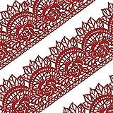 musykrafties groß vorgefertigt gebrauchsfertig Essbarer Kuchen Spitze Rose Muschel 14-inch 20-piece Set - Rot