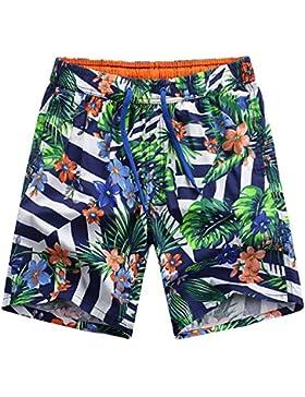 WDDGPZ Pantalones Cortos De Playa/Los Hombres De Algodón De Verano Playa Fitness Shorts Shorts Transpirable De...