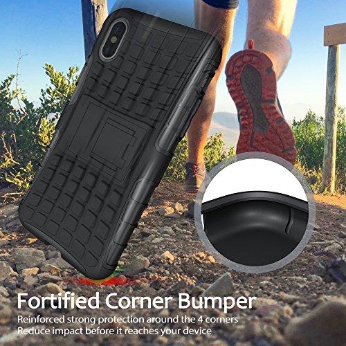 iPhone X Fall, BELK ultra dünner Shockproof Verteidiger-Abdeckungs-Anti-Rutsch-harter TPU rückseitiger Shell-Intensivschutz-Stoßdämpfer-Hülsen-Kasten für iPhone X Schwarz