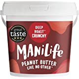 ManiLife Pindakaas - Geheel Natuurlijk, Enkele Herkomst, Geen Toegevoegde Suiker, Geen Palmolie - Deep Roast Crunchy- (1 x 1k