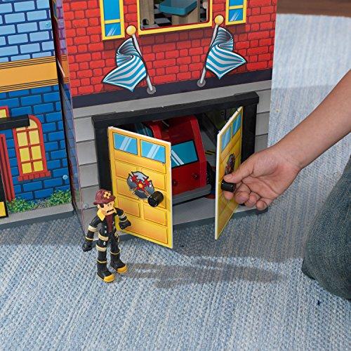 KidKraft - Everyday Heroes Spielset Feuerwehrhaus und Polizeiwache aus Holz - 18