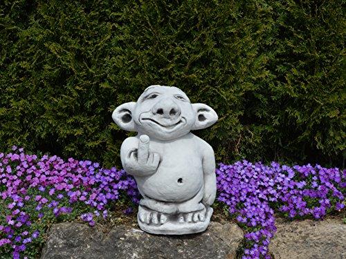 """Riesen XXL Troll """"Mittelfinger"""" Stinkefinger aus Steinguss, frostfest - 6"""