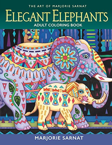 The Art of Marjorie Sarnat: Elegant Elephants Adult Coloring Book por Marjorie Sarnat