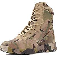 Wygwlg Bottes de Combat Militaires Camo à Lacets pour Hommes Chaussures d'entraînement de l'armée Tactique imperméables…