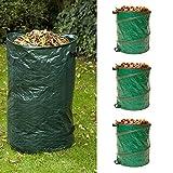 COCO GARDEN 3x Laubsack AUTOMATIC / Blätterkorb / Gartentasche / Gartenaufstelltasche / Blättersack / Laubbehälter / Garten / Laub / Blätter
