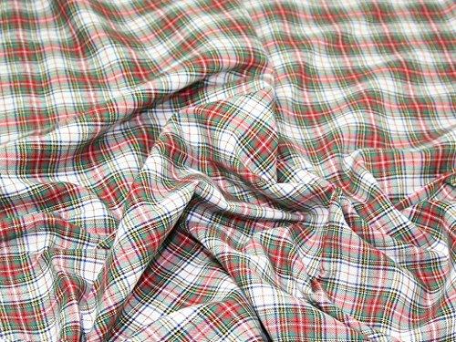 Tartan gebürstete Baumwolle Kleid Stoff Victoria–Meterware