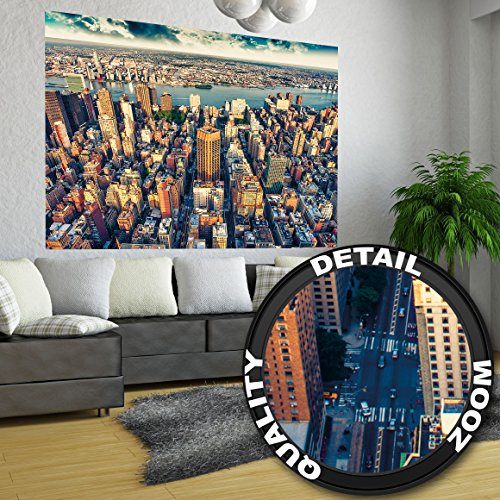 penthouse view over new york wall decoration mural metropolis motiv xxl wallpaper by great. Black Bedroom Furniture Sets. Home Design Ideas