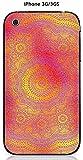Coque Apple iPhone 3G/3GS design Mandala rosace Or & Rose