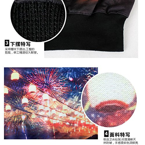 THENICE femmes sous-pulls Sweatershirts impression numérique - Night Market fireworks