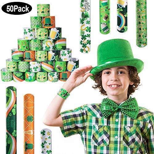 SPECOOL Braccialetti Slap 55Pcs Slap Bracelets Gadget Bracciali Scatto per Festa Compleanno Birthday Bomboniere Party Supplies Favors per Bambini