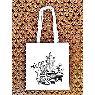 Tote bag Cactus – Bolsa de tela tote – Bolsa Boho – Regalo para mujer – Mexico – Regalo Cumpleaños Mujer – Prime