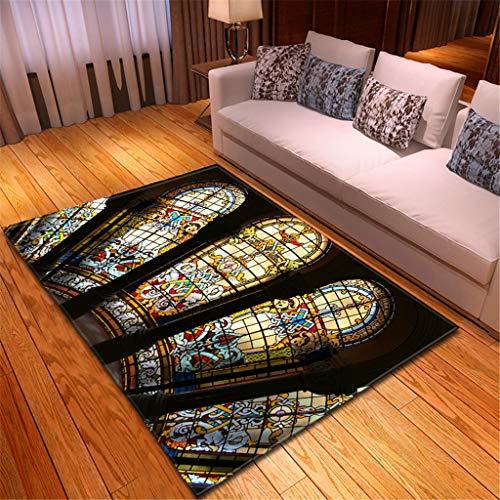 Große Matte Teppiche für Zuhause Wohnzimmer Sofa Boden Dekor Notre Dame de Paris Landschaft Hotel Boden Dekoration 150x100 cm Mehrfarben(Mehrfarben C,120x180CM)