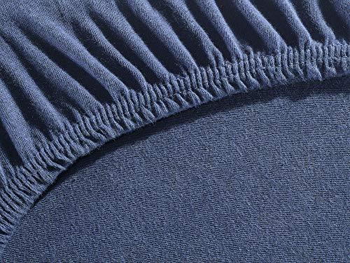 myHomery Spannbettlaken Topper Noah – Spannbetttuch Basic – Matratzenbezug für Boxspringbett-Topper – Bettlaken aus Baumwolle – Betttuch