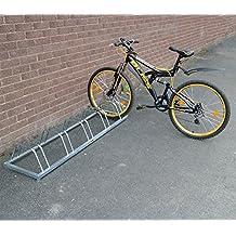 Soporte de suelo para bicicletas (3, 4, 5), para garaje o cobertizo, 5 Bike