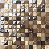 Gebrochen Glas Und Marmor Naturstein Mosaik Fliesen Matte In Braun